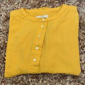 Loft yellow dress top small